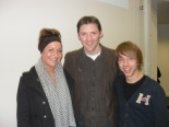 Justin McKeown (centre) with CIPR student reps